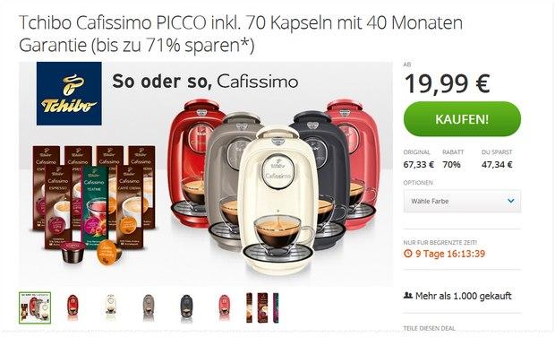 Cafissimo Picco bei Groupon für 19,99 €