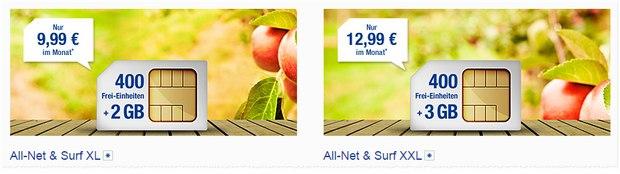 2 GB, 400 Einheiten: GMX All-Net & Surf XL von 1&1 Mobilfunk für 9,99 €