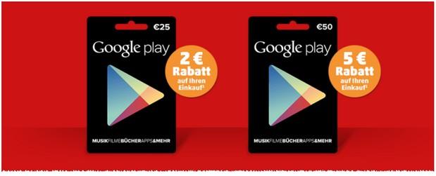 Google Play Karten Rabatt