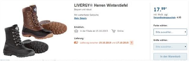 Livergy Winterstiefel im LIDL-Angebot