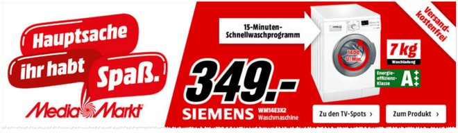 Media Markt Werbung Siemens Waschmaschine