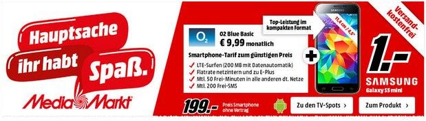Samsung Galaxy S5 mini ohne Vertrag bei Media Markt 199 €