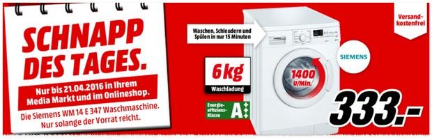 Siemens Waschmaschine WM14E347