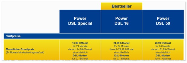 WEB.DE Power DSL Special