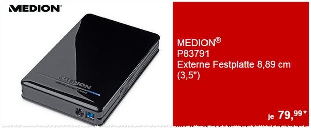 ALDI Festplatte extern der Marke Medion