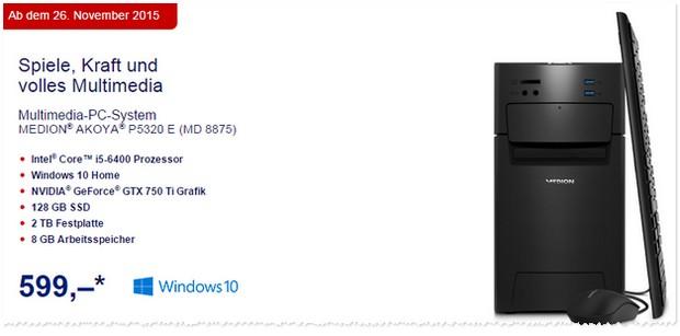 Aldi Computer im Angebot für 599 €