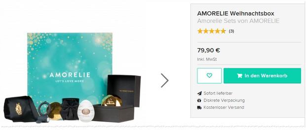 Amorelie Weihnachtsbox mit 5 erotischen Geschenken