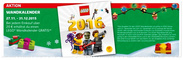LEGO Wandkalender 2016