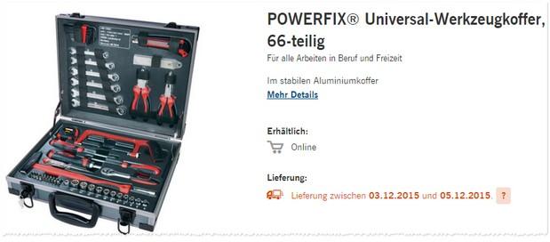 LIDL Werkzeugkoffer für 49,99 €