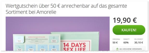 Amorelie Gutschein 15 €