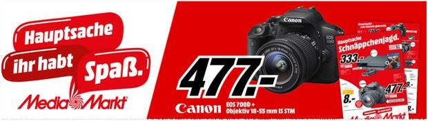 Canon EOS 700D mit Objektiv in der Media Markt Werbung