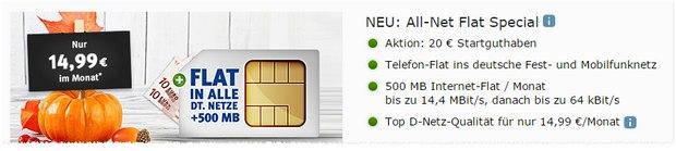 GMX.DE All-Net Flat Special