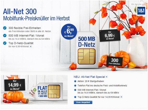 GMX Handyvertrag für 6,99 €