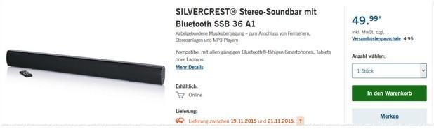 LIDL Soundbar von Silvercrest