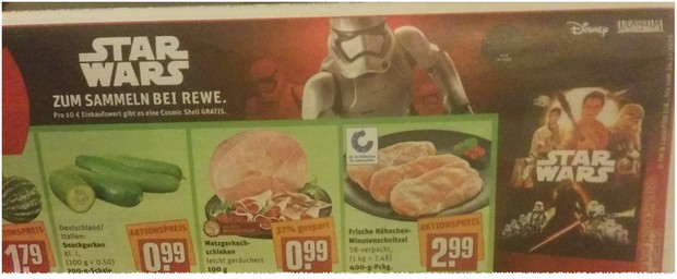 REWE Star Wars Sammelkarten