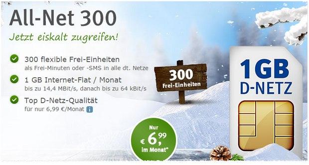 WEB.DE All-Net 300 Handyvertrag