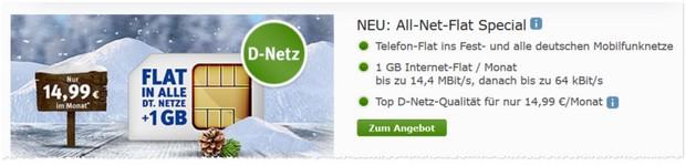 WEB.DE Allnet-Flat mit 1 GB