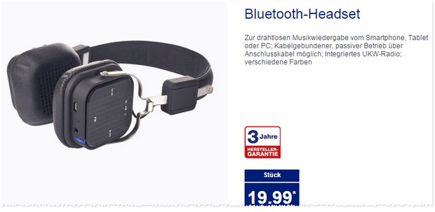 aldi bluetooth headset aldi nord angebot ab. Black Bedroom Furniture Sets. Home Design Ideas