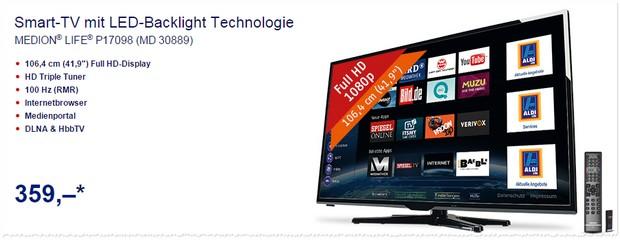 ALDI Fernseher im Angebot