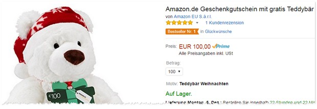 Amazon Teddy gratis