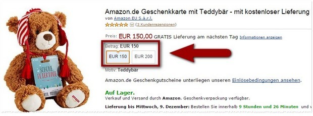 Teddy gratis bei Amazon