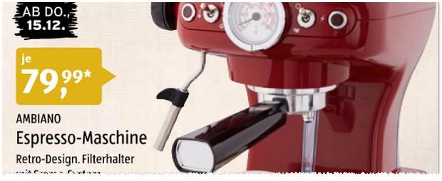 ALDI Espresso-Maschine