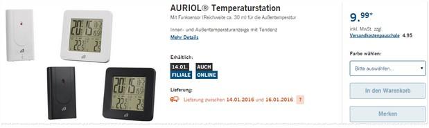 Auriol Temperaturstation
