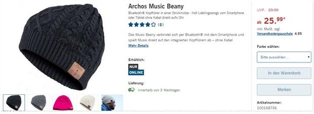 Bluetooth Mütze von Archos