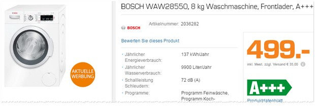 bosch waschmaschine saturn tv werbung ab 20. Black Bedroom Furniture Sets. Home Design Ideas