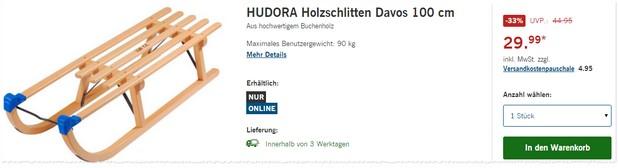 Davos Schlitten von Hudora