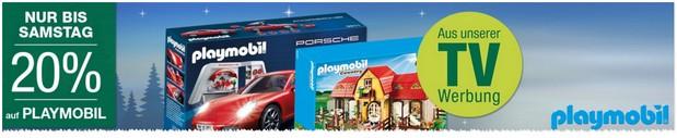 Galeria Kaufhof Werbung mit 20% auf Playmobil