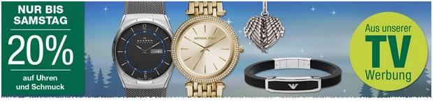 Galeria Kaufhof Werbung mit 20% auf Uhren und Schmuck