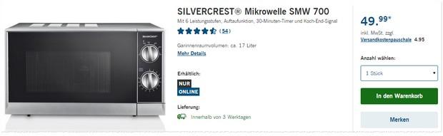 silvercrest mikrowelle als lidl angebot ab 23. Black Bedroom Furniture Sets. Home Design Ideas