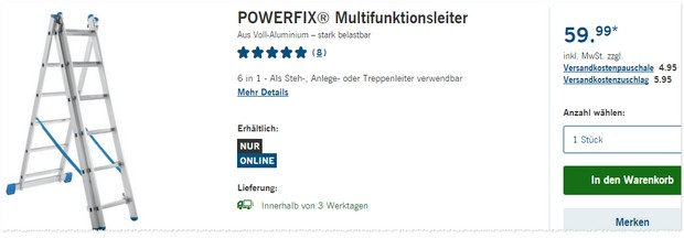 Powerfix Leiter bei LIDL