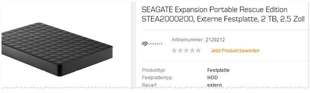Seagate Festplatte