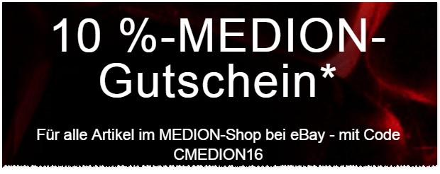 ebay Gutschein für Medion-Artikel
