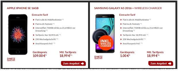 Eintracht Handyvertrag mit iPhone für 18,99 €