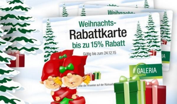 Galeria Kaufhof Weihnachts-Coupon zum Ausdrucken