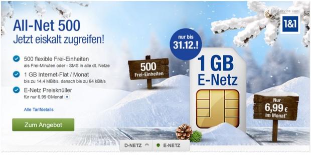 GMX All-Net 500 im E-Netz