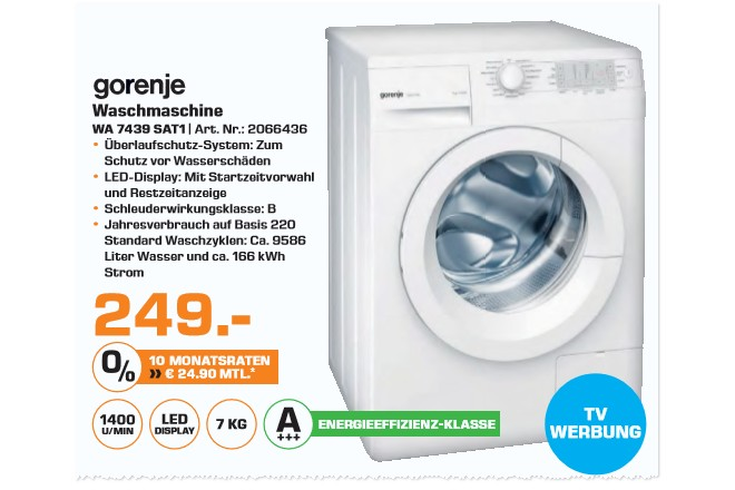 Gorenje WA 7439 SAT1 Waschmaschine