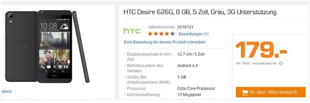 HTC Smartphone aus der Saturn Werbung