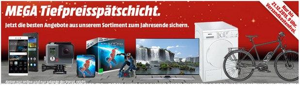 Media Markt Mega-Tiefpreisspätschicht bis 21.12.2015, 9 Uhr