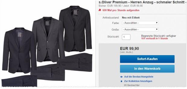 s.Oliver Anzug bei eBay