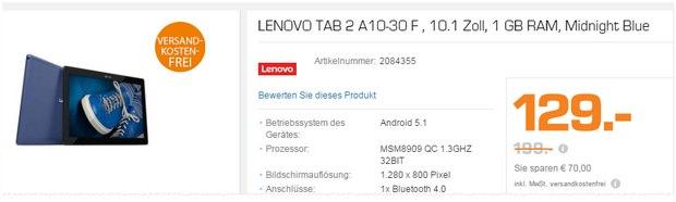 Saturn Montagsangebote ab 14.12.2015: SSD-Festplatte von SanDisk und Lenovo Tablet für je 129 €