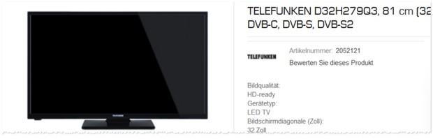 Telefunken D32H279Q3