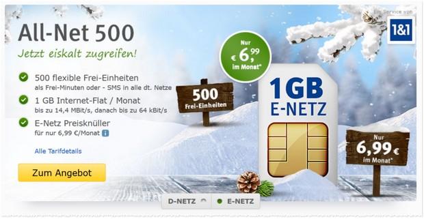WEB.DE All-Net 500 Angebot im E-Netz