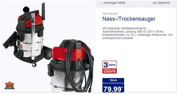 nass und trockensauger aldi nord angebot ab 6. Black Bedroom Furniture Sets. Home Design Ideas