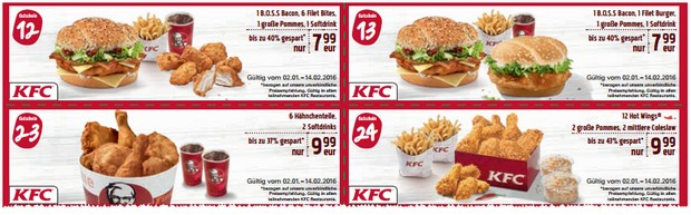 kfc coupons 2017 zum ausdrucken bis februar 2017. Black Bedroom Furniture Sets. Home Design Ideas