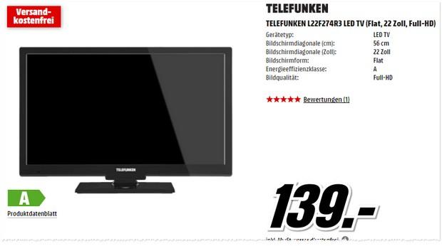 Media Markt Werbung mit Telefunken TV