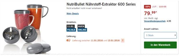 NutriBullet Nährstoff-Extraktor